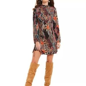Free people All Dolled up Large Jersey Print Dress